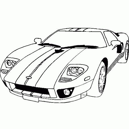 550x550 Race Car Outline