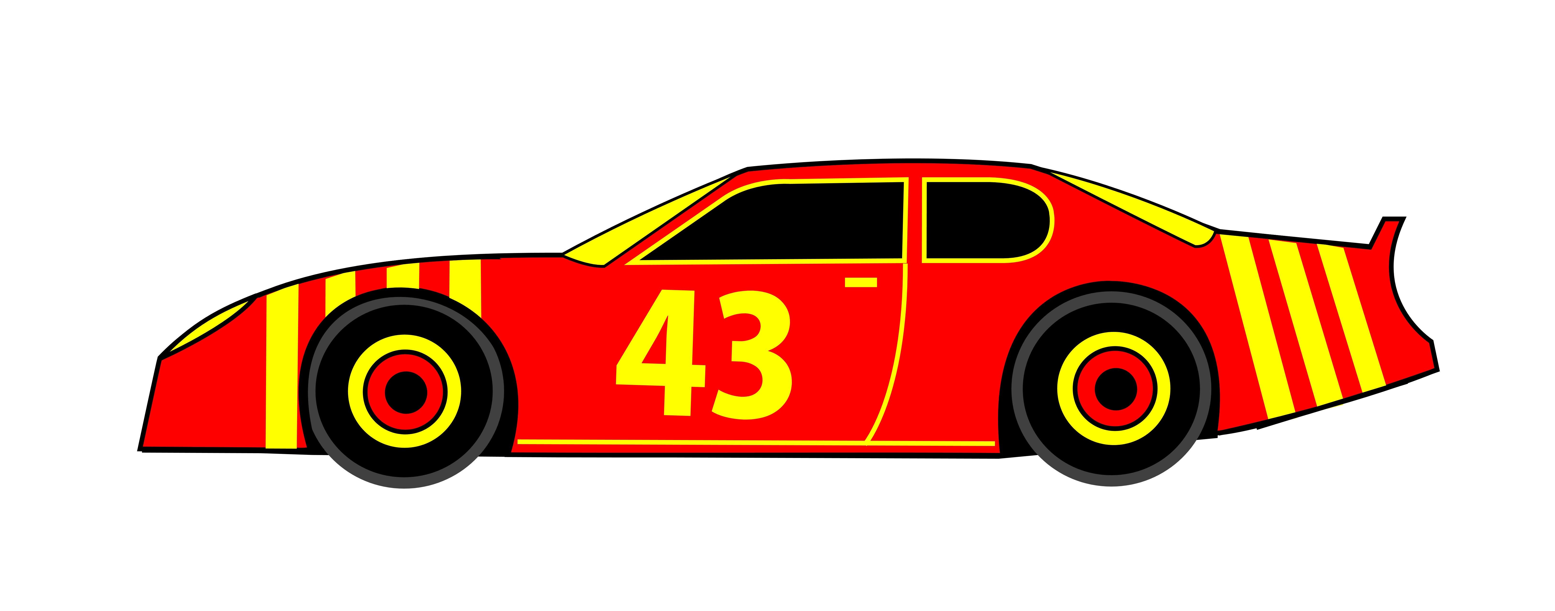 6500x2555 Race Car Clipart