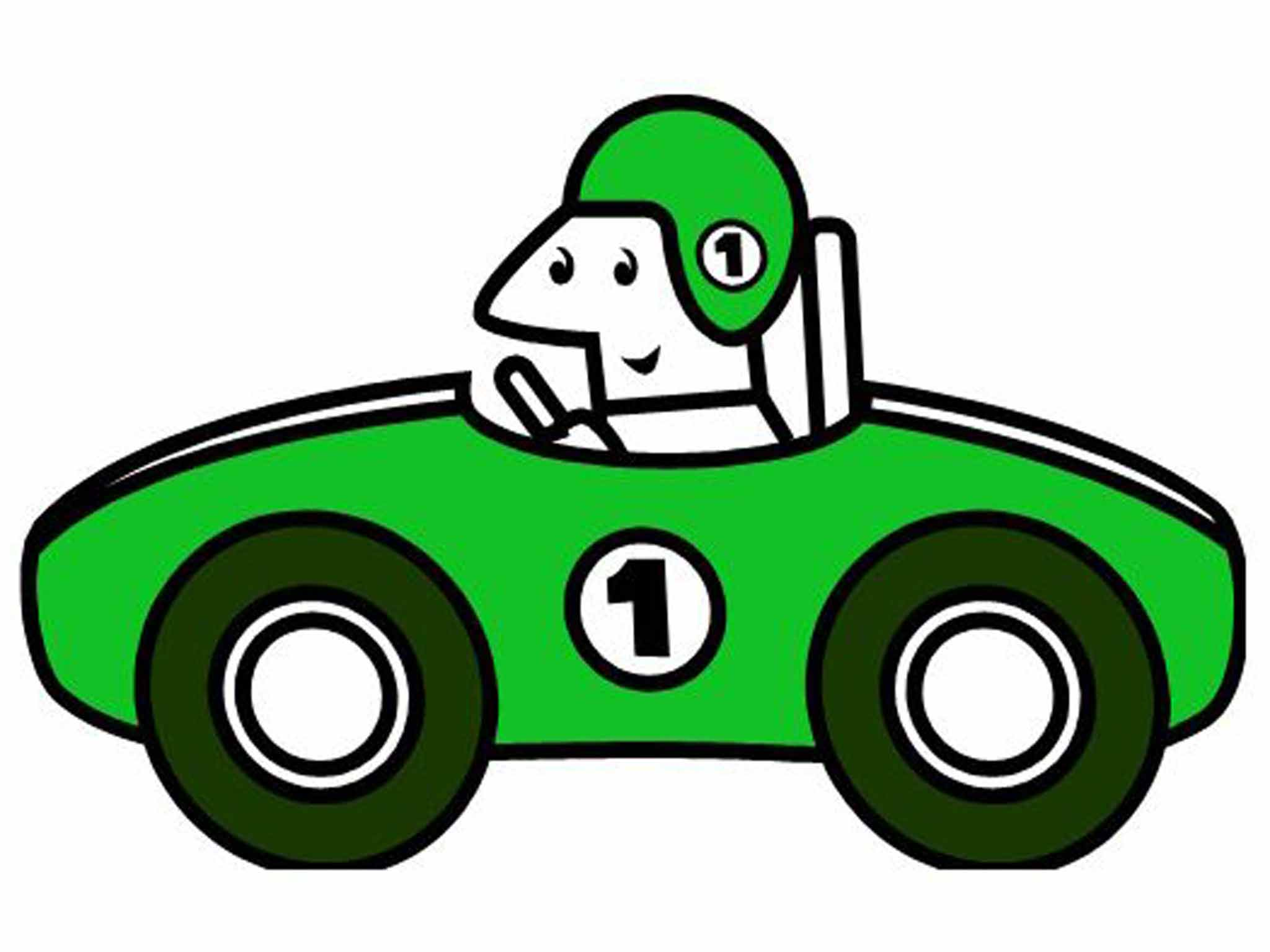 2048x1536 Race Car Clipart Image Clip Art Of A Green Cartoon Race