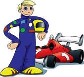 170x155 Race Car Driver Clipart