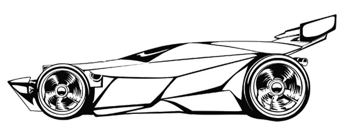 700x288 Sport Car Race Coloring Page