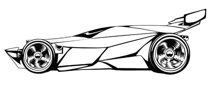 700x288 Sport Car Race Coloring Page