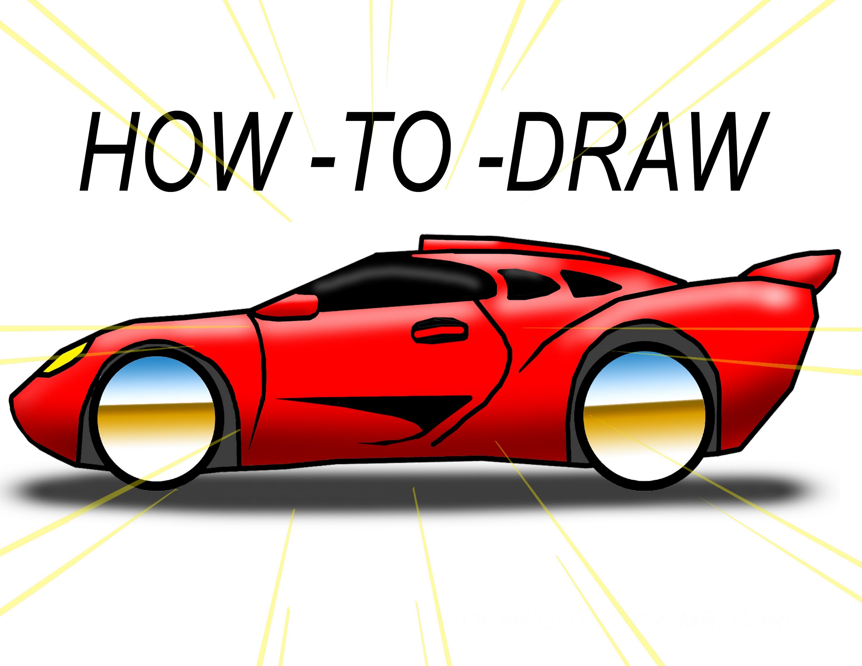 3000x2318 Drawn Race Car Fancy Car