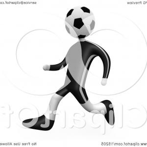 300x300 Clip Art Of A Soccer Player Person With A Soccer Ball Head Running