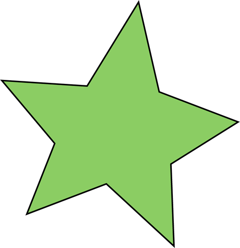 482x500 Free Green Star Clipart
