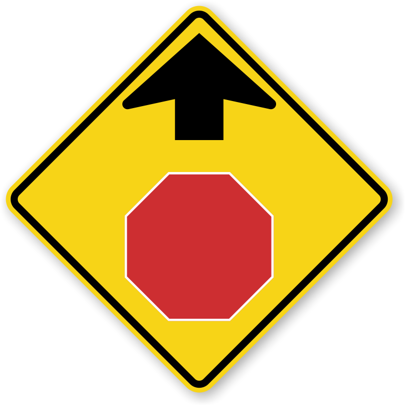 800x800 Stop Ahead Signs Signal Ahead Signs