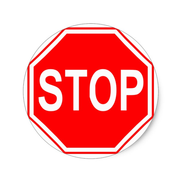 630x630 Stop Sign Stickers Zazzle.co.uk