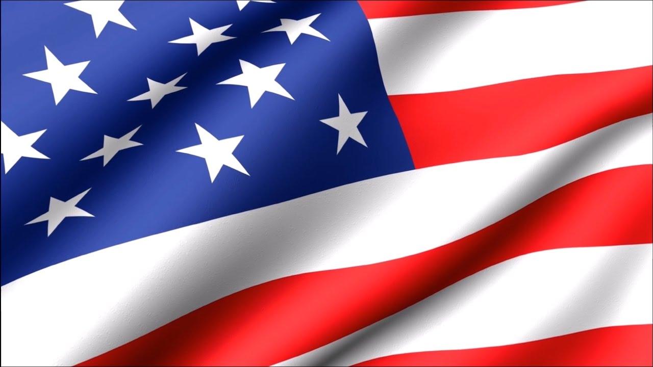 1280x720 American Flag Waving 30 Min