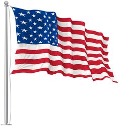 236x251 Illustration Of A Waving American Flag Against White Background