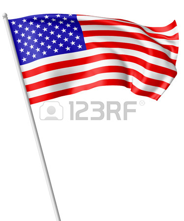 375x450 Many Small American Flags With Stars And Stripes In Row Isolated