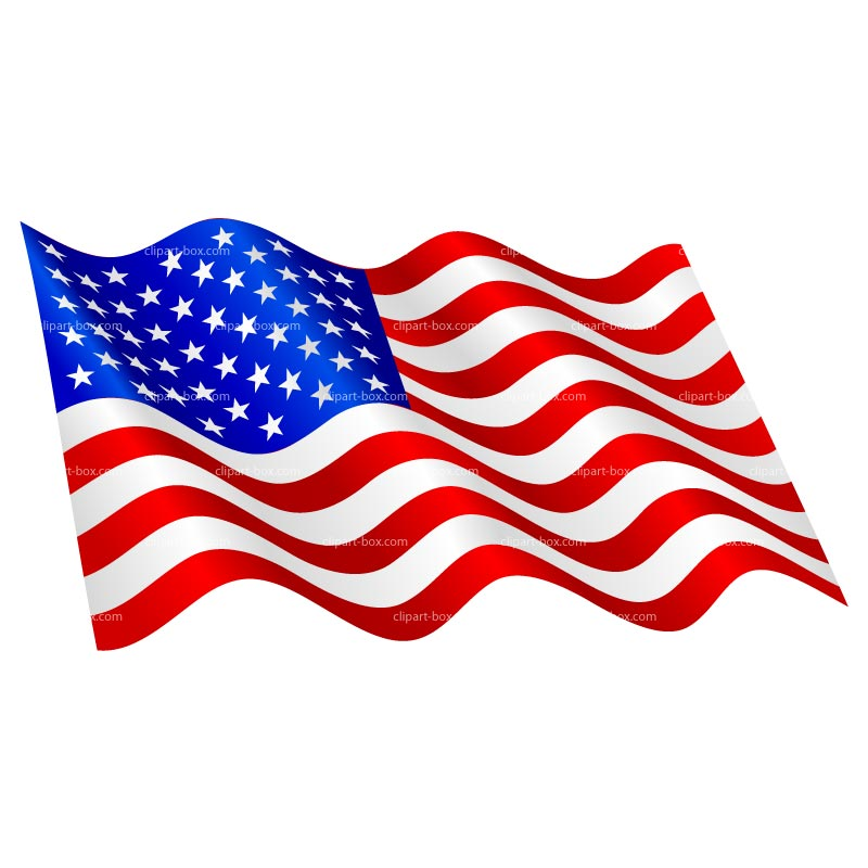 800x800 American Flag Waving Clipart