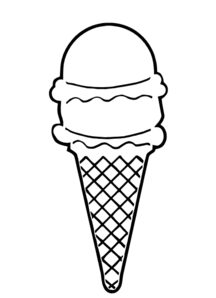216x298 Ice Cream Cone Outline Clip Art