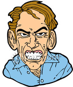 250x300 Angry Man Royalty Free Clipart Picture