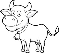 200x180 Free Black And White Animals Outline Clipart