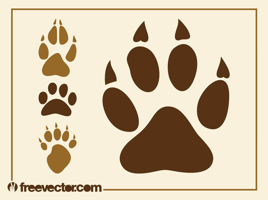 1024x765 Animal Paw Prints Graphics Vector Art Amp Graphics