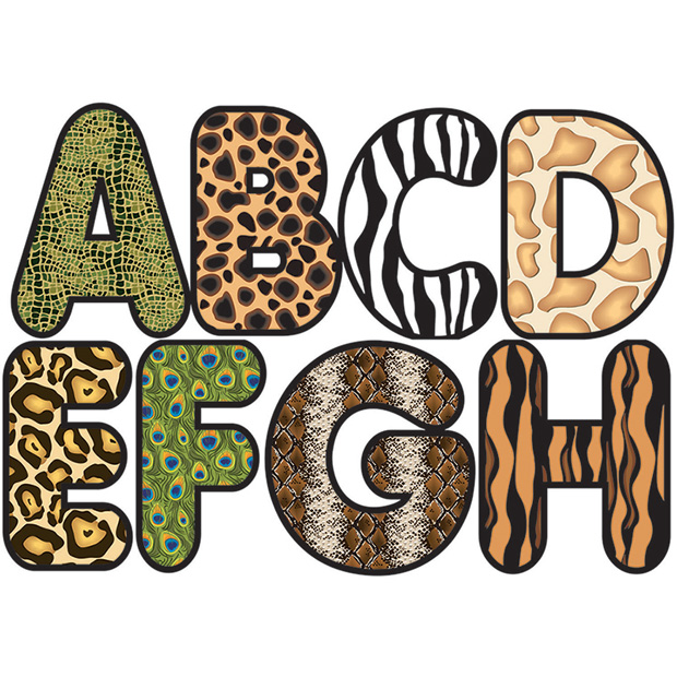 620x620 Magnetic Letters Animal Print 2.75 By Ashley Productions Ap10166