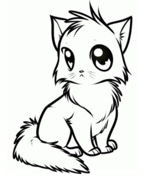477x583 Best Anime Cat Ideas Cute Anime Cat, Chibi Cat
