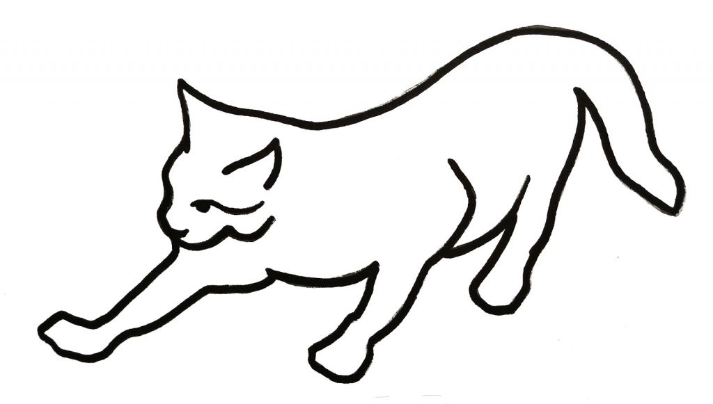 1024x581 Drawing Of A Cat How To Draw A Cute Anime Cat Step Step Anime