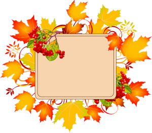 300x264 Colorful Clip Art For The Autumn Season Autumn Sign With No Text