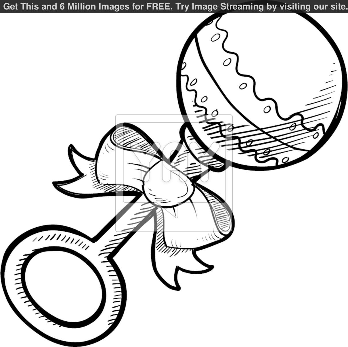 1210x1206 Baby Rattle Coloring Pages Baby Shower Outlines