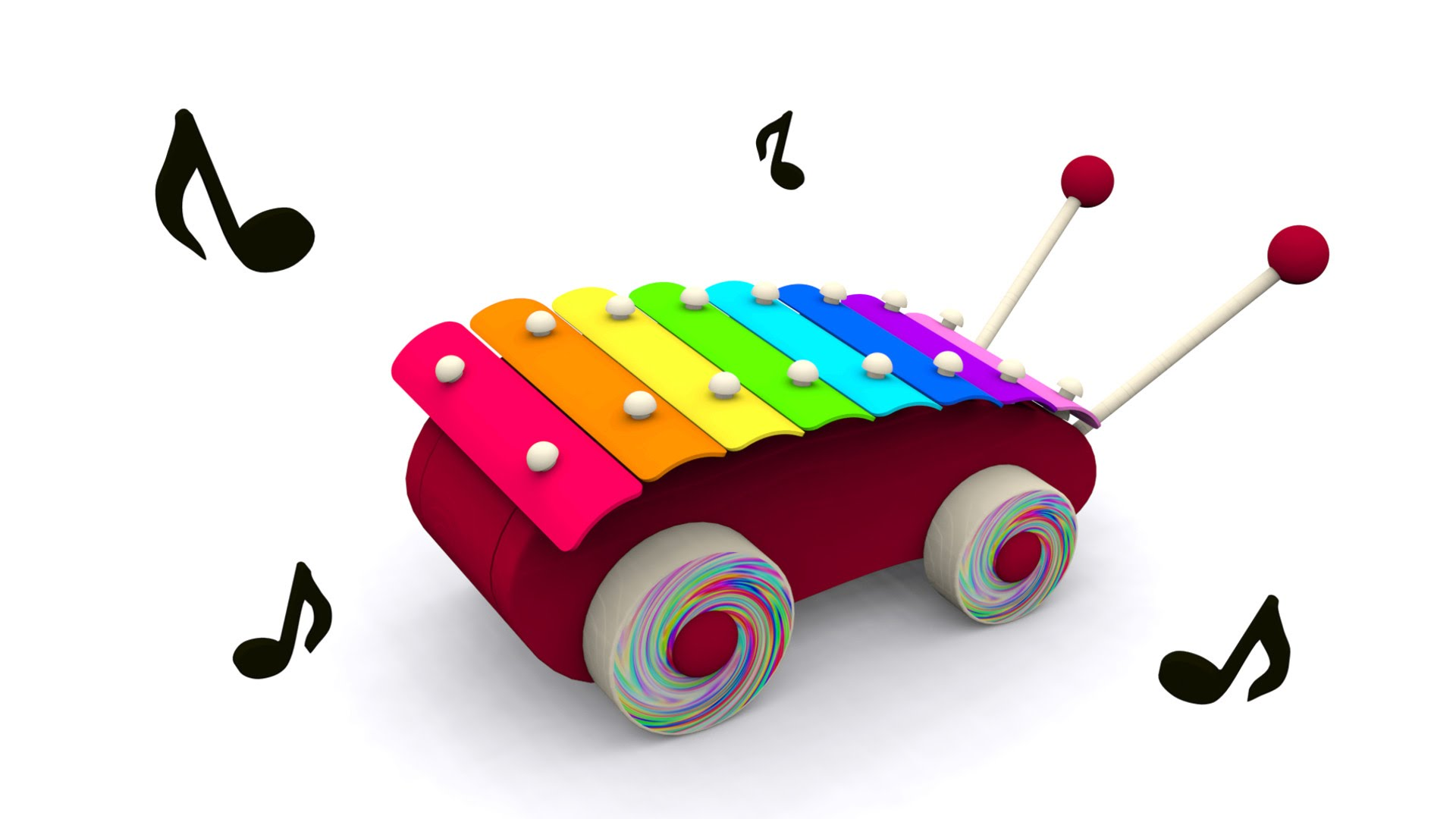 1920x1080 Cartoons For Babies. Baby Toys Xylophone. Learn And Sing Musical