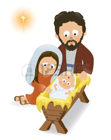 356x450 Face Baby Jesus Manger Cartoon Vector Illustration Royalty Free