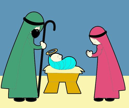 500x419 How To Draw Cartoon Nativity Scene Baby Jesus In Manger