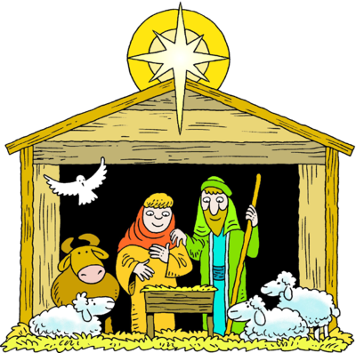 400x397 Nativity Picture Of Baby Jesus In A Manger Clipart Image