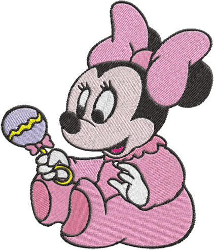 422x493 Baby Minnie Mouse Machine Embroidery Design