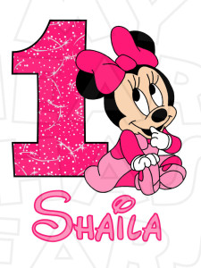 225x300 Baby Minnie Mouse 1st Birthday Clipart