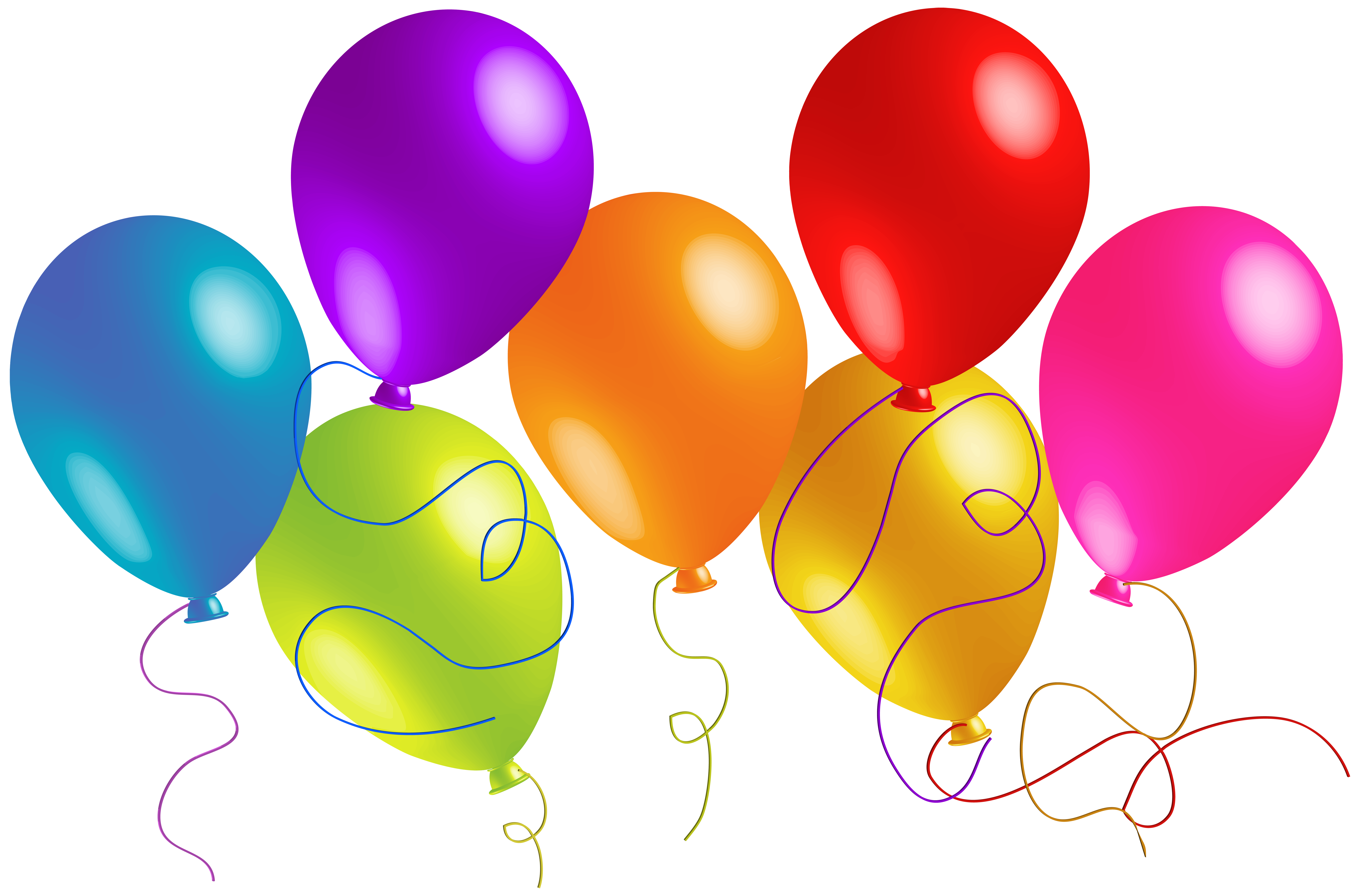 8000x5286 Baloons Clipart
