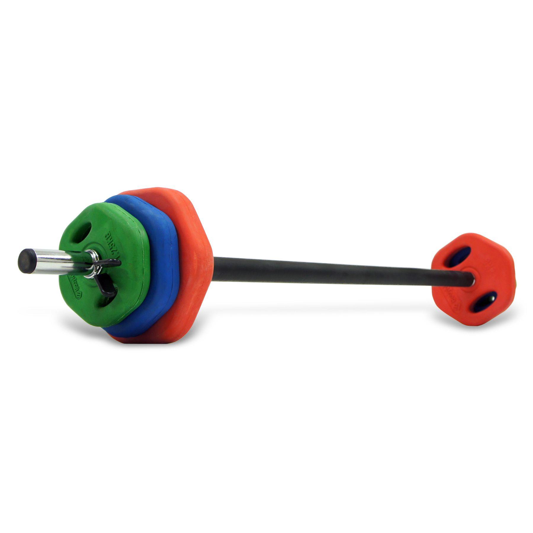 1800x1800 Bodymax 20kg Coloured Rubber Studio Barbell Set
