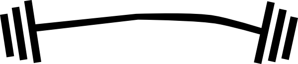 600x129 Barbell Clip Art