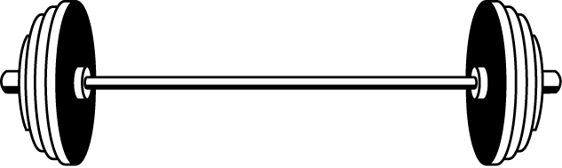 633x189 Barbell From Clipart Kid