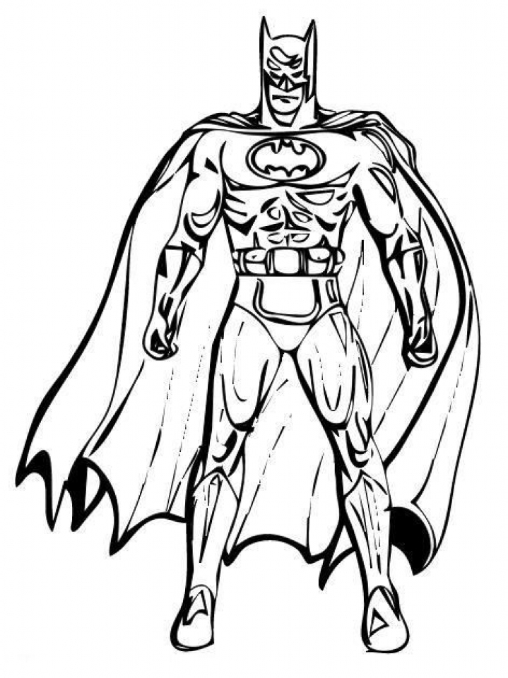 This is a picture of Smart Batman Free Coloring Pages