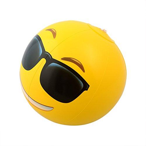 500x500 Emoji Universe 12 Emoji Inflatable Beach Balls, 12 Pack