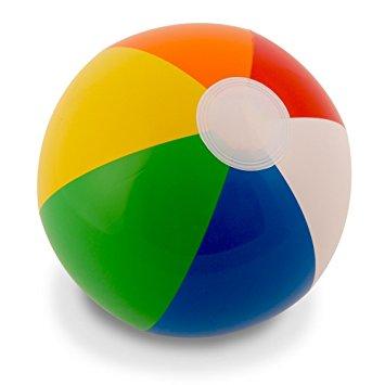 355x355 12 Rainbow Beach Balls (12 Pack) Inflatable 12pc