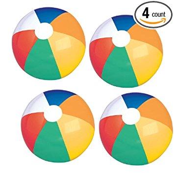 355x355 Beach Ball Set (4 Pcs Per Pack) (20) Toys Amp Games