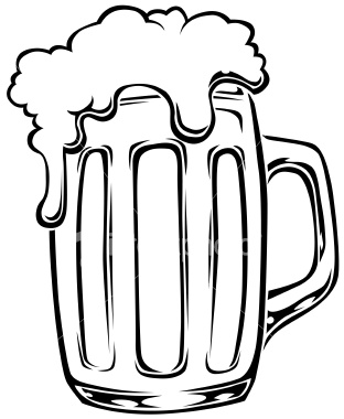 312x380 Beer Mug Black And White Clipart Kid 2
