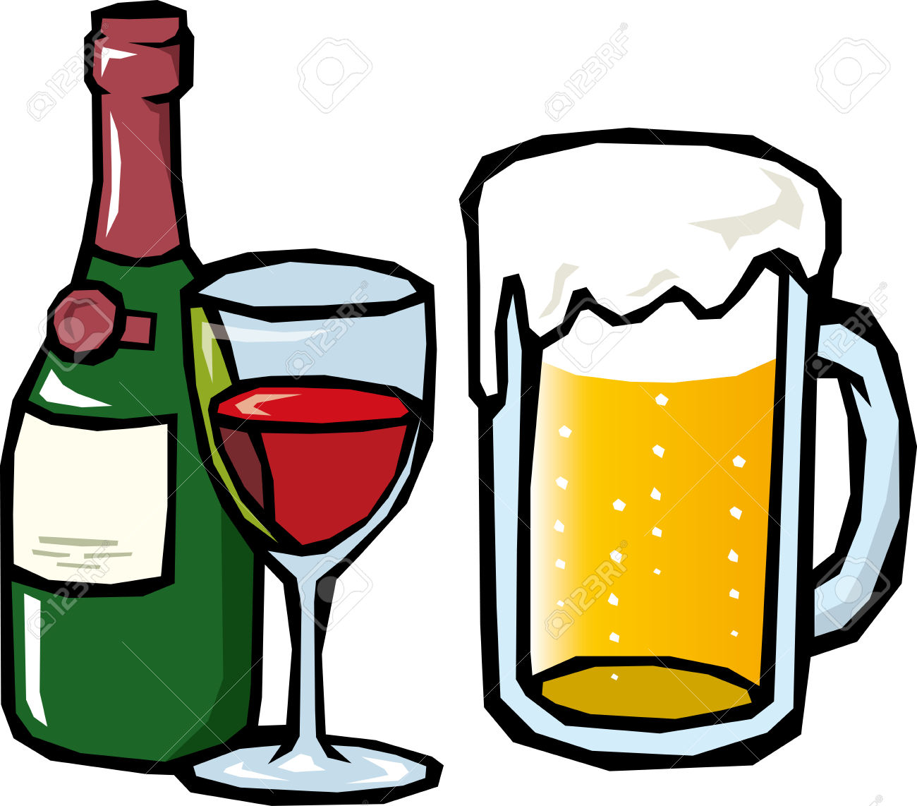 1300x1142 Download Wine And Beer Clipart Clipart Panda