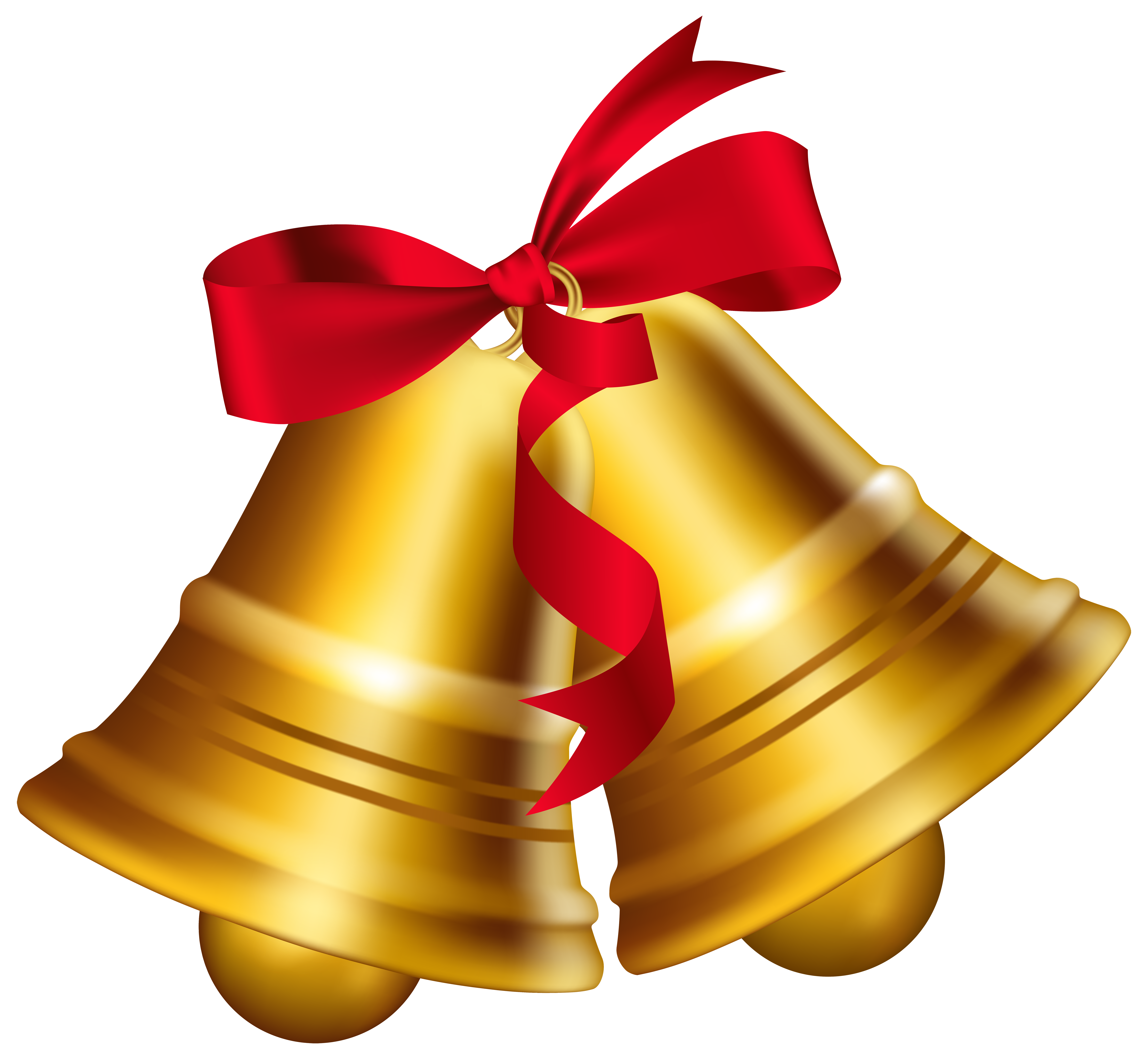 7000x6457 Bell Clipart Christmas Bow