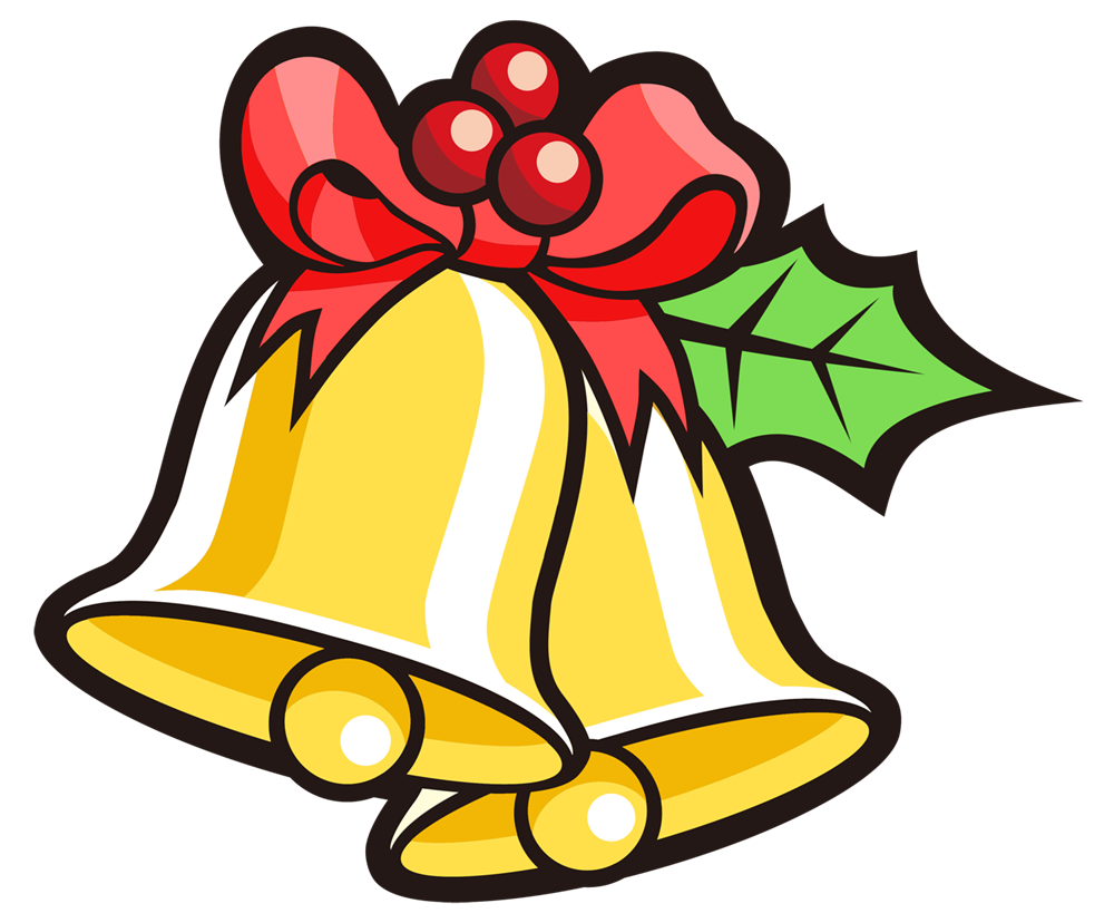 1000x828 Bell Clipart Traditional Christmas