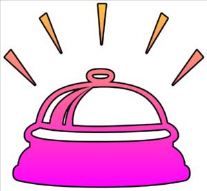 300x276 Bell Ringing Cutout Clip Art