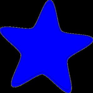 297x298 Blue Star Clip Art