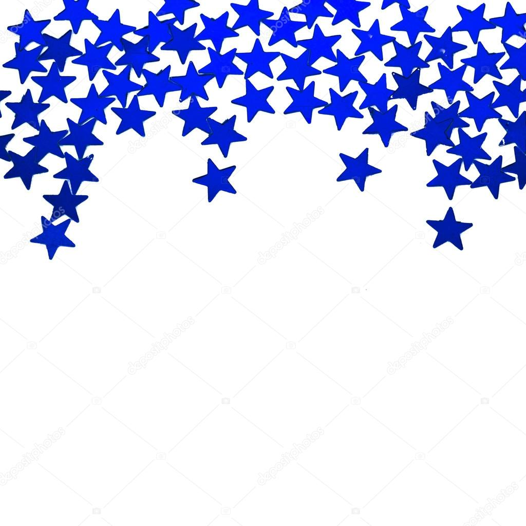 1024x1024 Glitter Blue Stars Ornaments Border Isolated On White Background