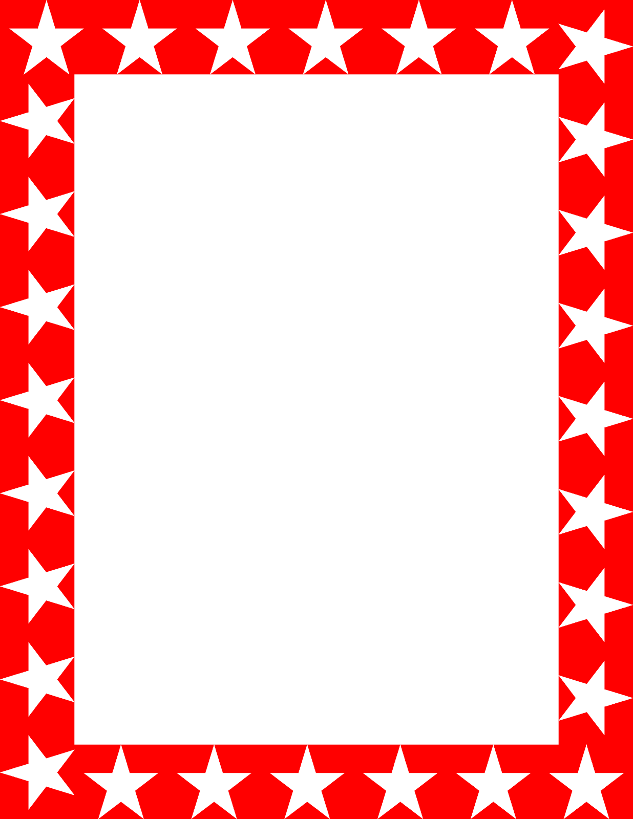 1236x1600 Image Of Star Border Clipart