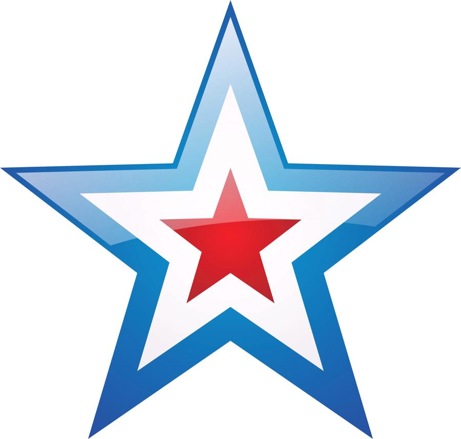 900x856 Red White And Blue Stars Clipart