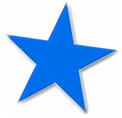 249x240 Stars Clipart Blue Star