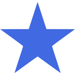 256x256 Stars Clipart Royal Blue
