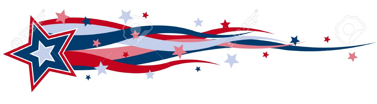 1300x360 A Illustrated Banner Of Red, White And Blue Stars And Stripes